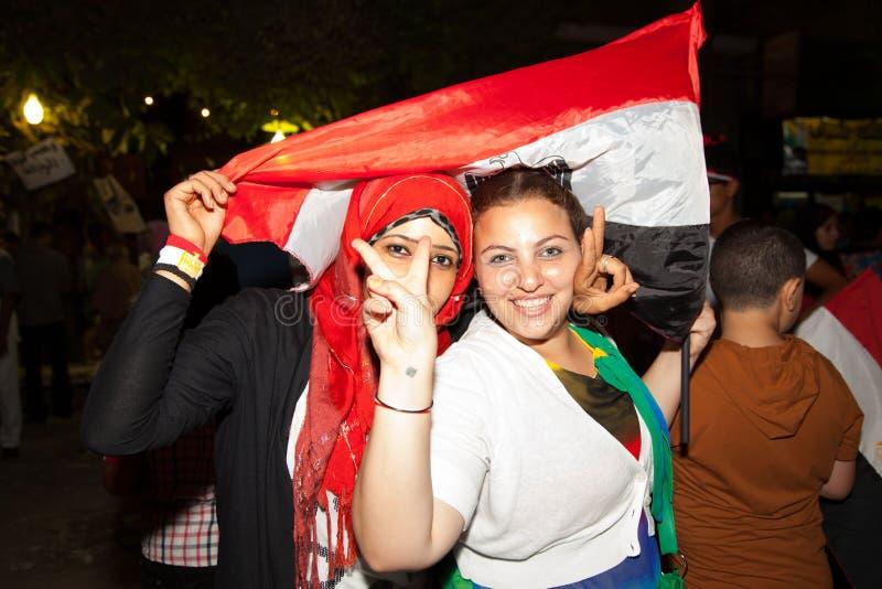 Ägyptische Revolution stockfotografie