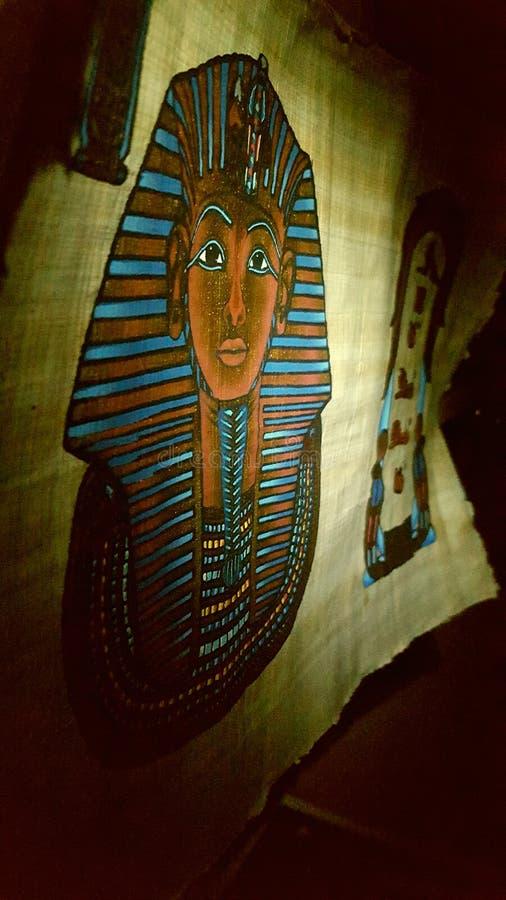 Ägyptische Rolle stockfotos