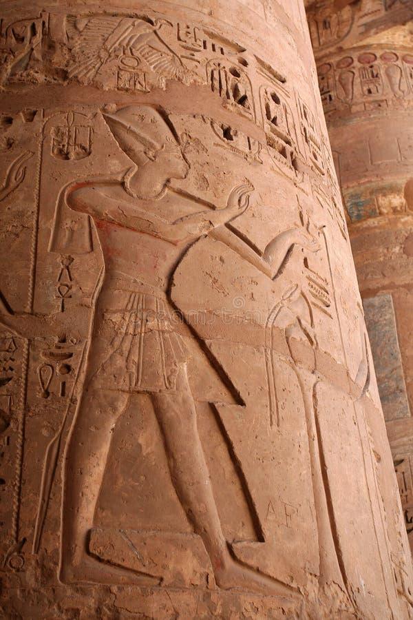 Ägyptische Spalte lizenzfreie stockbilder