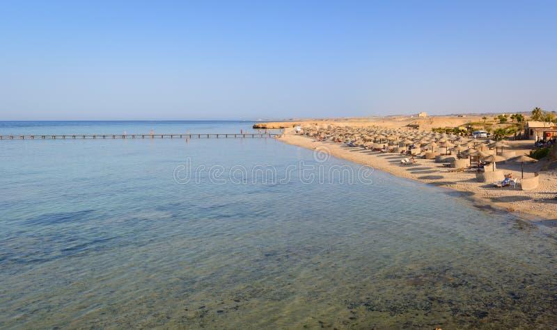 Ägyptische Strände im Sommer lizenzfreies stockfoto