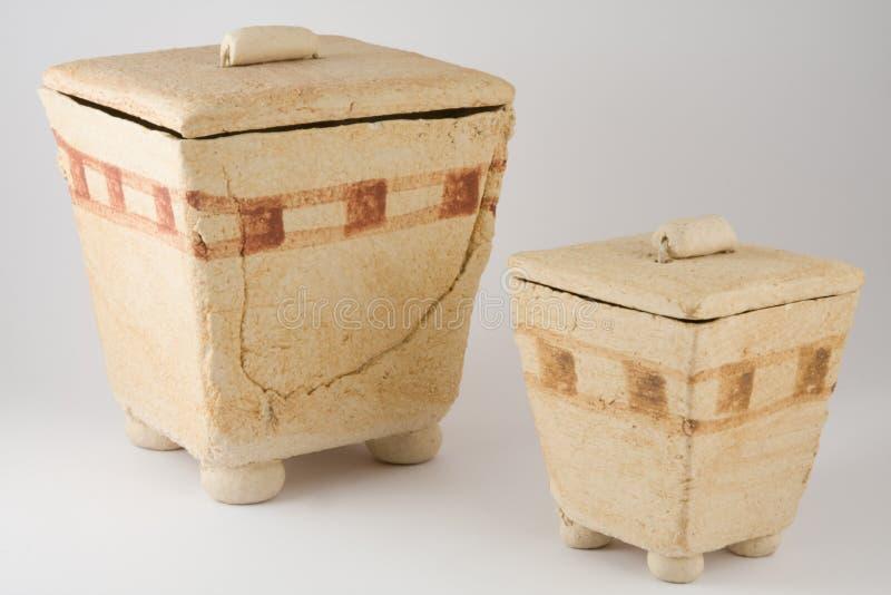 Ägyptische Tonwaren stockfoto