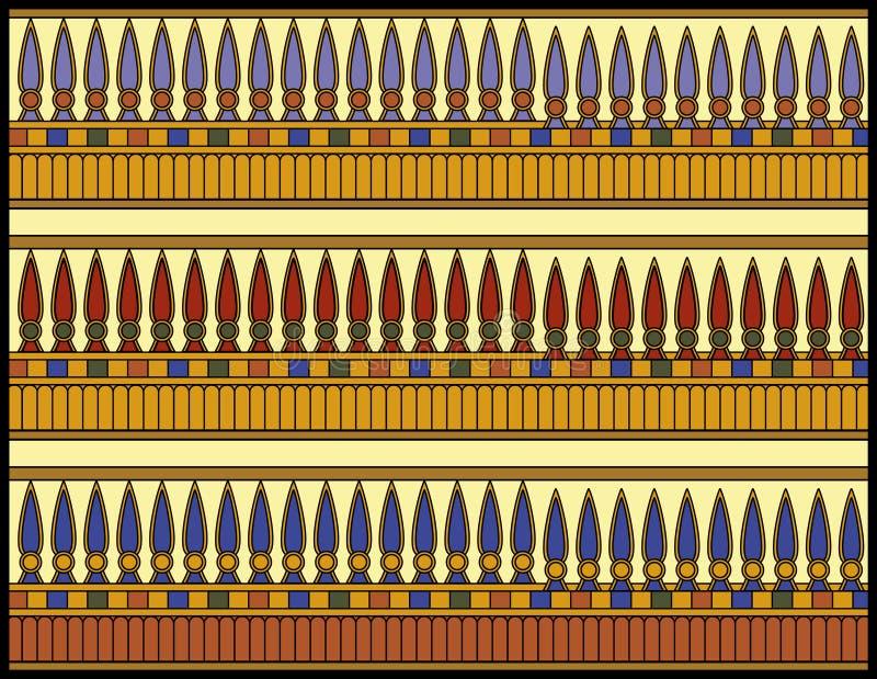 Ägyptische Verzierung, die Lotus-Knospen lizenzfreies stockbild