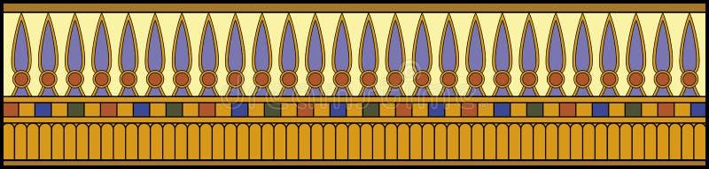 Ägyptische Verzierung hell stockfotos