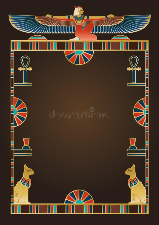 Ägyptischer Hintergrund und Gestaltungselemente vektor abbildung