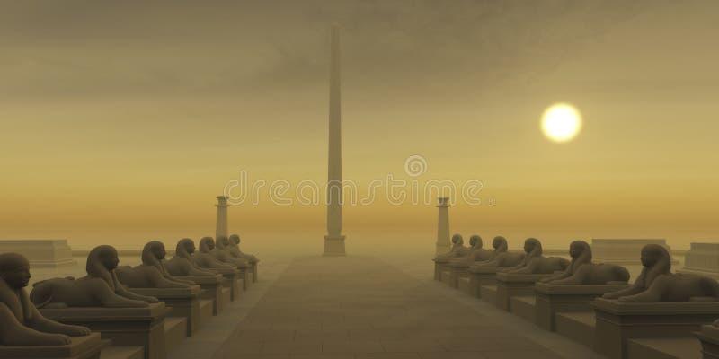 Ägyptischer Obelisk stockfotografie