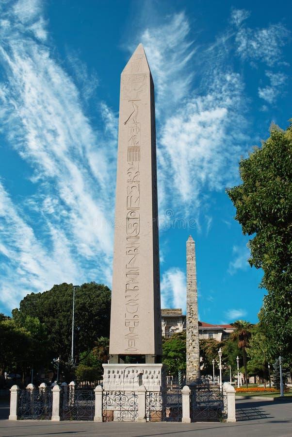 Ägyptischer Obelisk am alten Hippodrom in Istanbul lizenzfreie stockfotografie