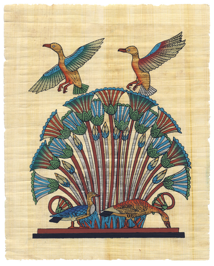Ägyptischer Papyrus vektor abbildung