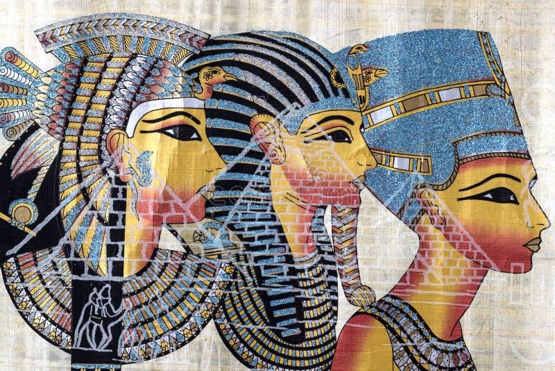 Ägyptischer Papyrus stockbilder