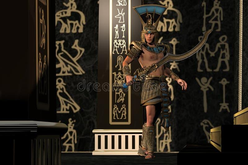 Ägyptischer Skorpions-Gott stock abbildung