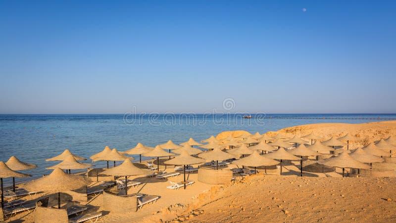 Ägyptischer Strand stockfoto