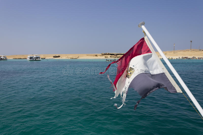 Download Ägyptisches flad und Meer stockbild. Bild von tiefe, heiß - 26364295