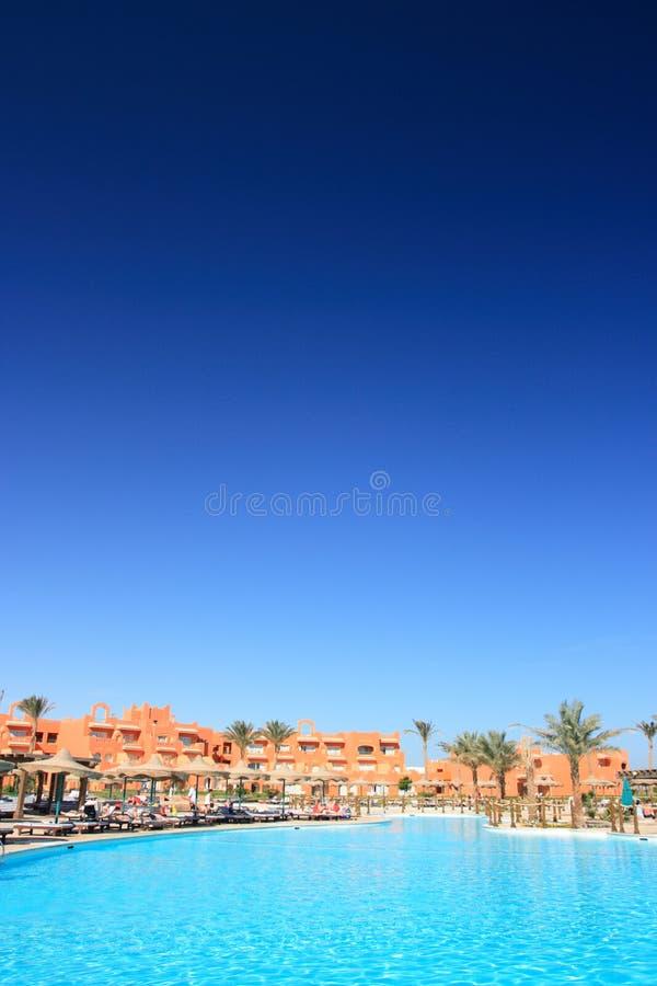 Ägyptisches Hotel lizenzfreie stockbilder