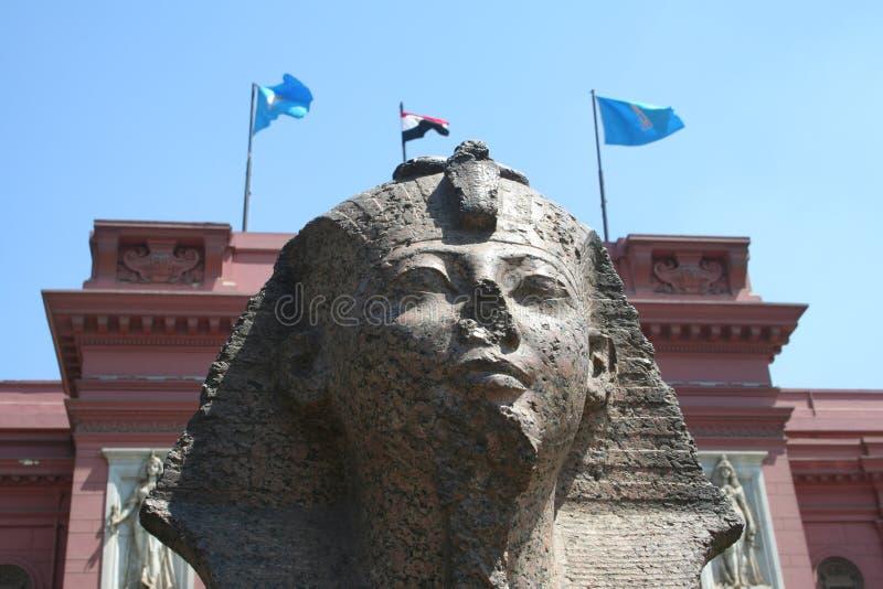 Ägyptisches Museum in Kairo stockbild