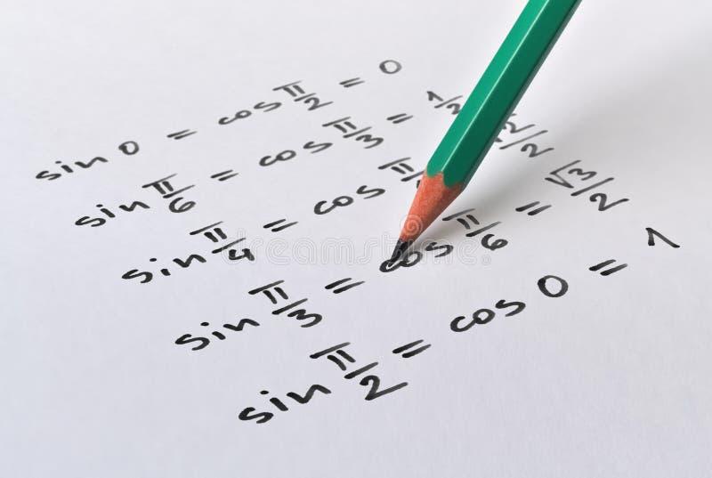 Ähnliche trigonometrische Funktionen lizenzfreie stockbilder