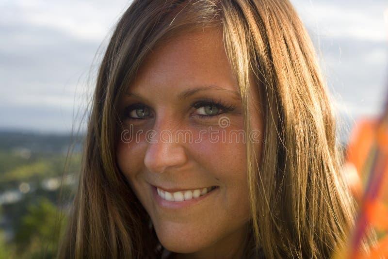 Äktat leende royaltyfria bilder