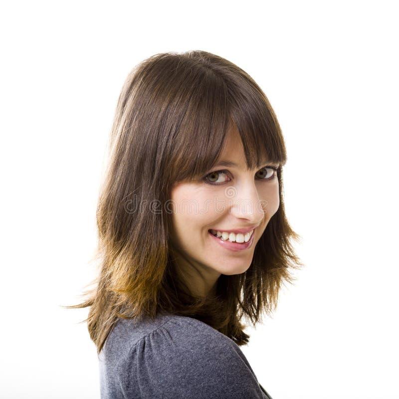 Äktat leende arkivfoto