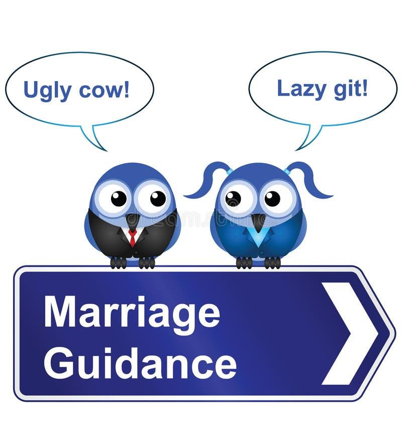 Äktenskapsrådgivning royaltyfri illustrationer