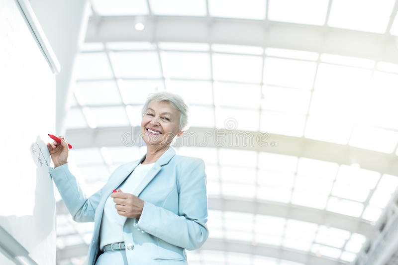 Äldre affärskvinna arkivbild
