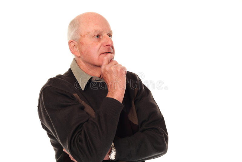 äldre högt tänka för man fotografering för bildbyråer