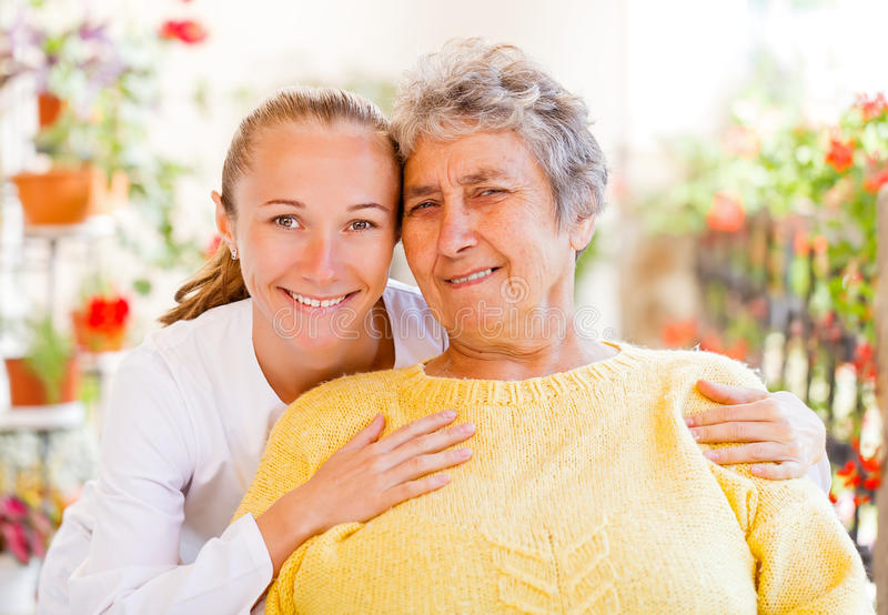 Äldre hem- omsorg royaltyfri fotografi