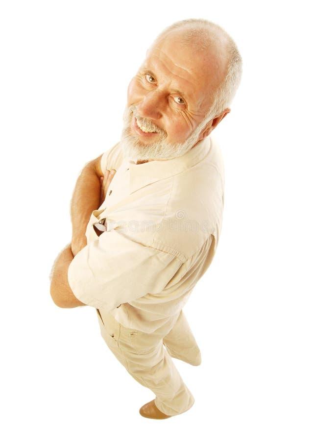 äldre lycklig man royaltyfri bild