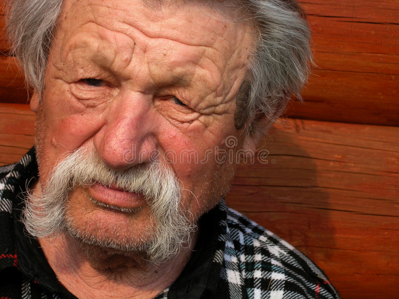 äldre man royaltyfri bild