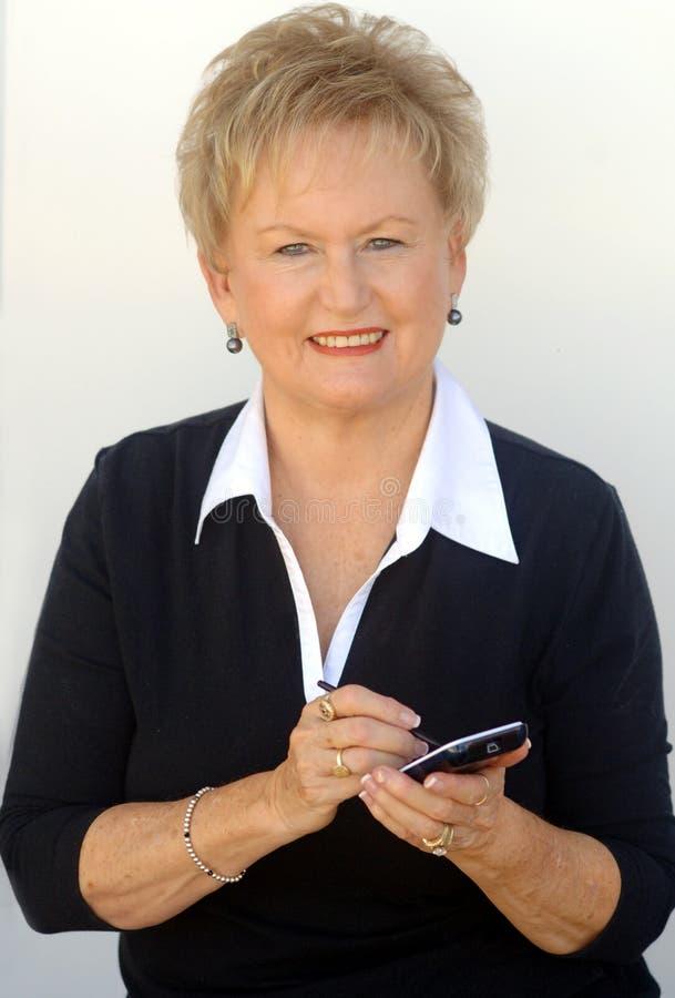 äldre organisatörkvinna för affär royaltyfri fotografi