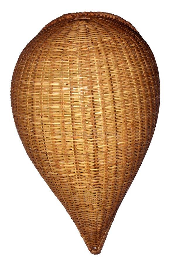 Äldst bambukorg arkivfoto