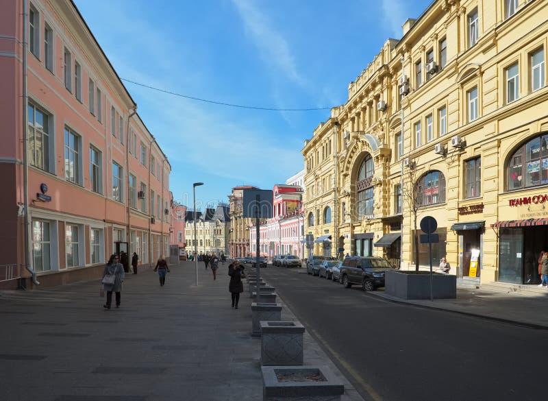 Äldst gata Kuznetsky mest royaltyfri fotografi