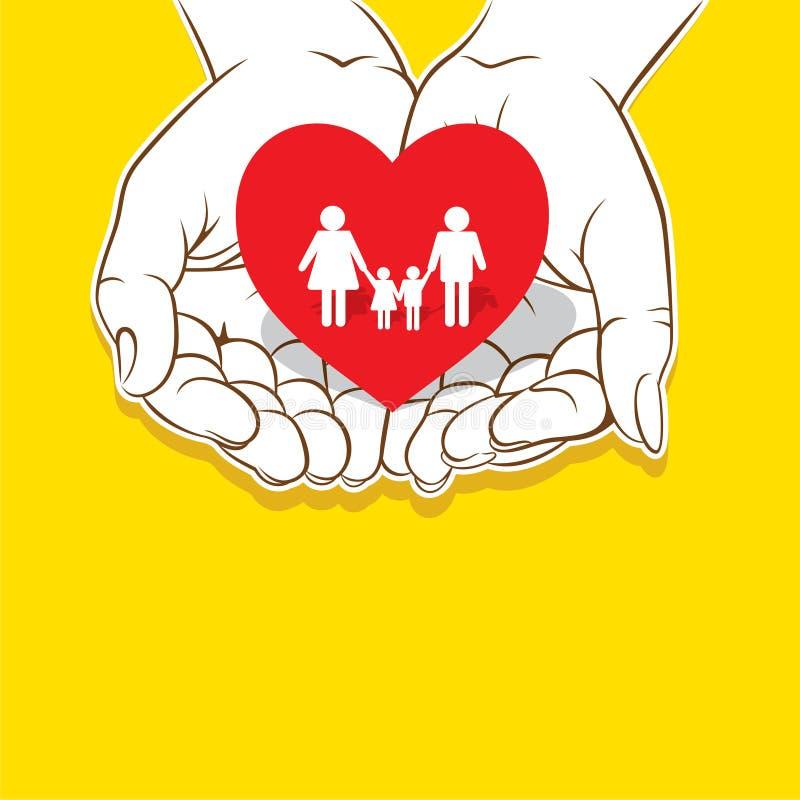 Älska din familjbegreppsdesign stock illustrationer