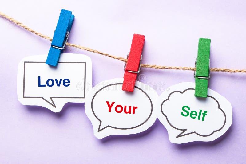 Älska din själv arkivbilder