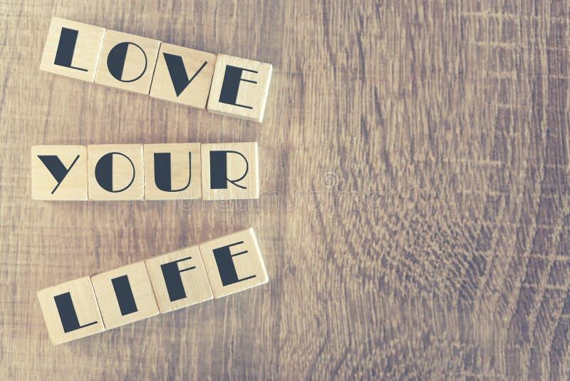 Älska ditt livmeddelande fotografering för bildbyråer