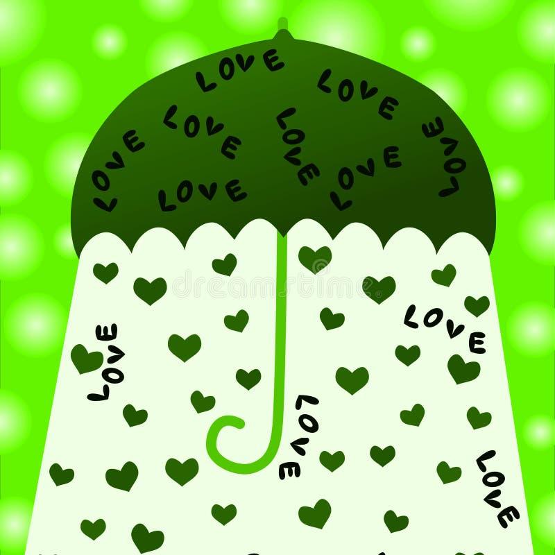 Älska hälsningskortet stock illustrationer
