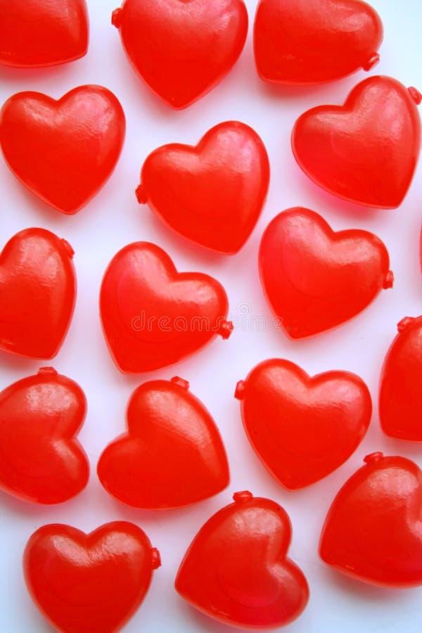 Älska hjärtor arkivbild