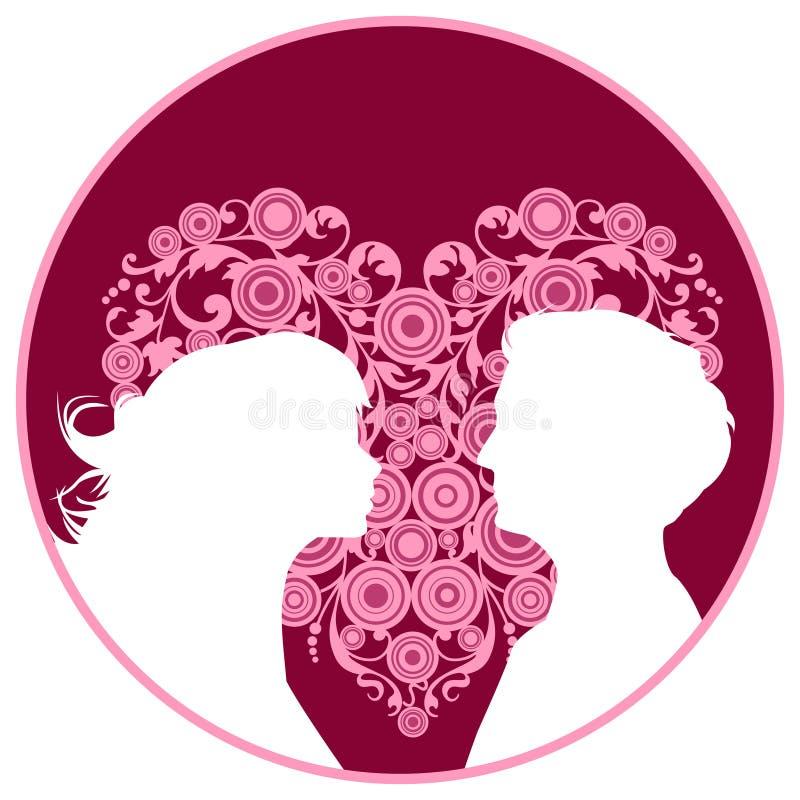 älska mankvinnor stock illustrationer