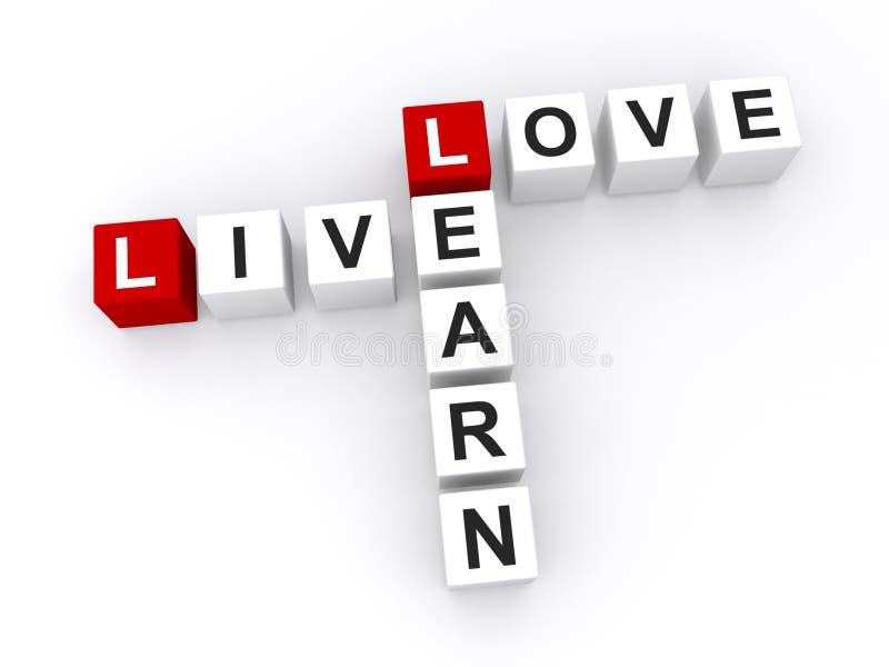 Älska och lär, levande stock illustrationer