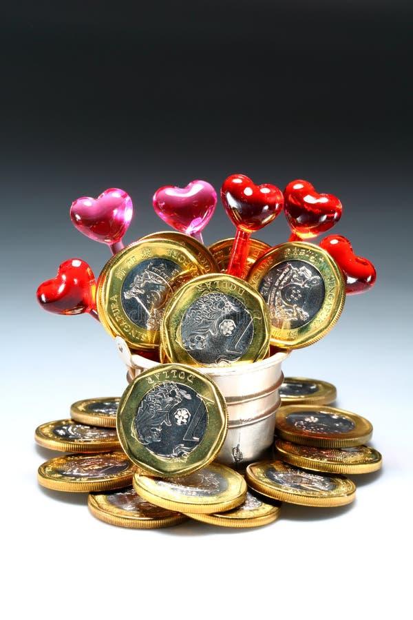 Älska pengar fotografering för bildbyråer