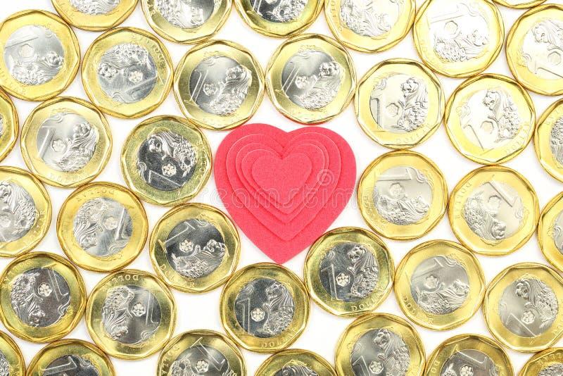 Älska pengar royaltyfri bild