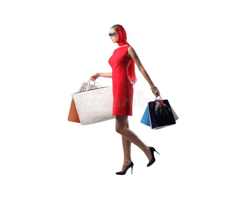 älska shopping royaltyfri foto
