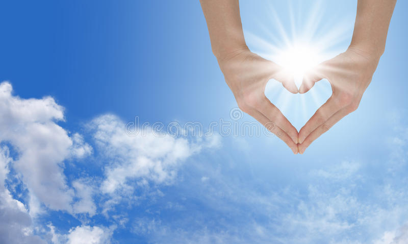 Älska solskenet royaltyfri foto