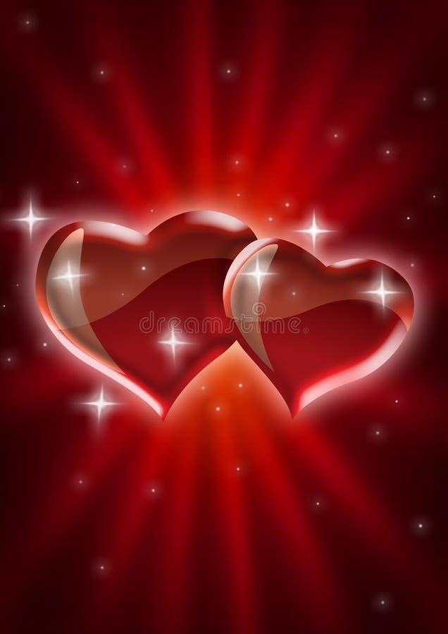 älska starburst royaltyfri illustrationer