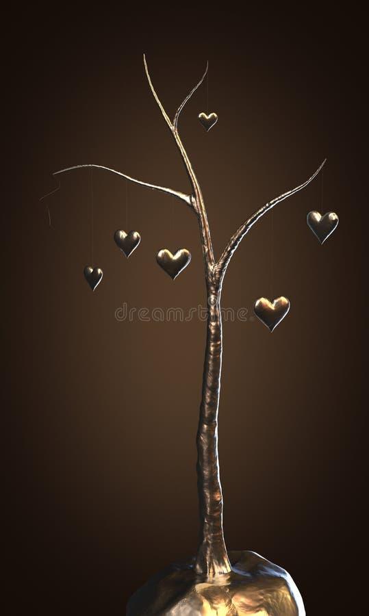 älska treen stock illustrationer
