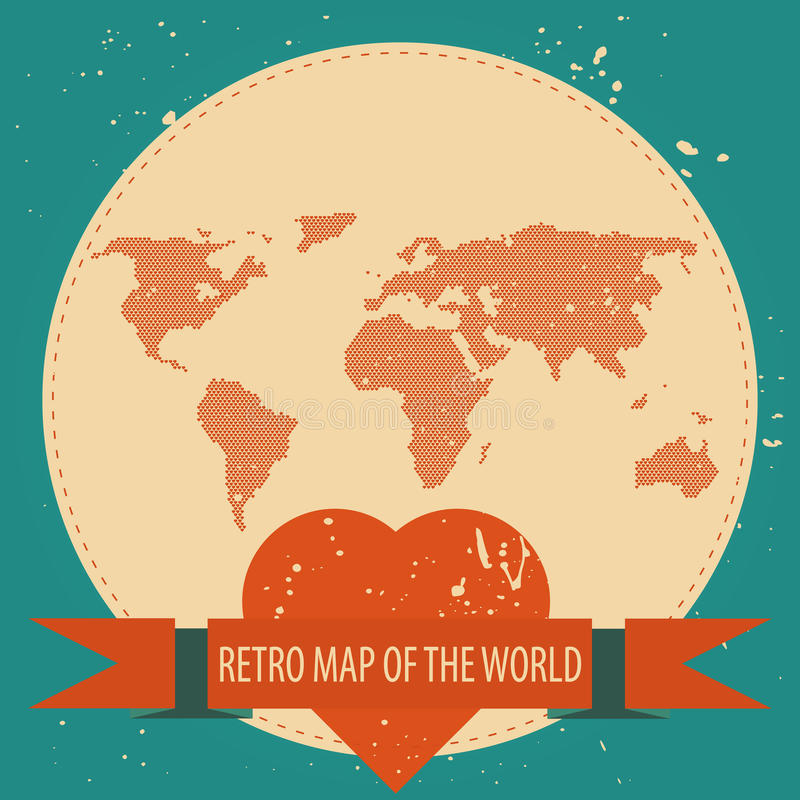 Älska världen stock illustrationer