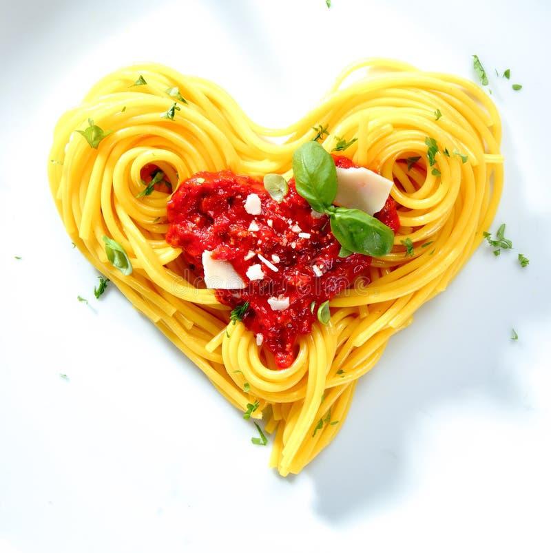 älskat en spagetti royaltyfri foto