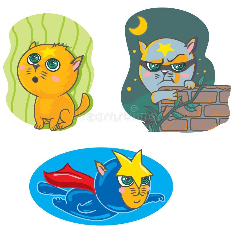 Älsklings- katt, spionkatt, toppen katt vektor illustrationer