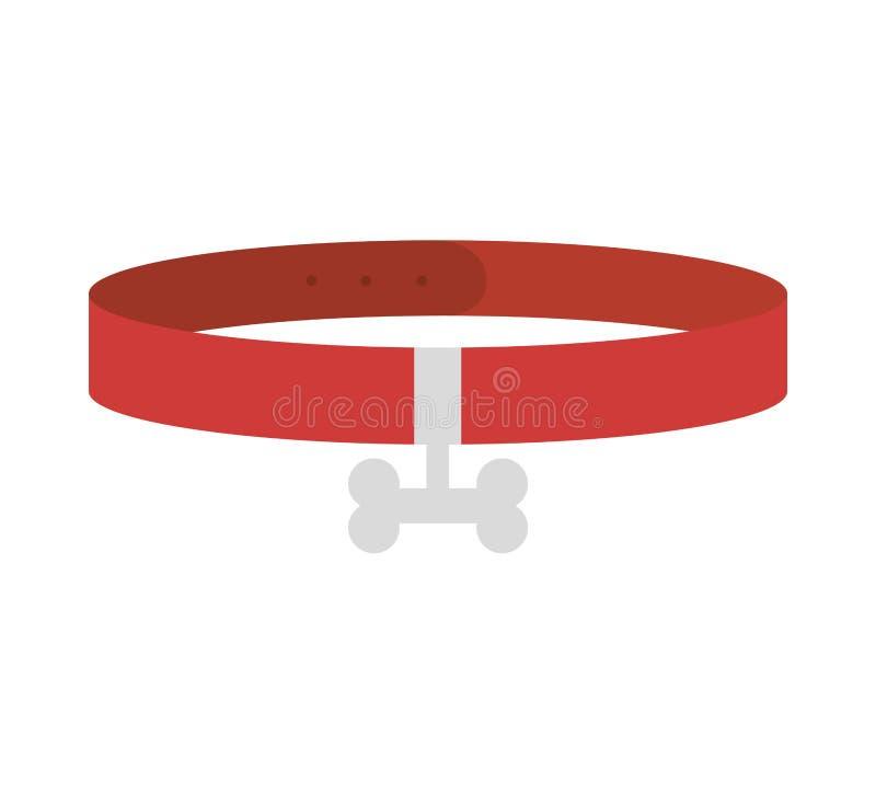 Älsklings- krage isolerad symbol stock illustrationer