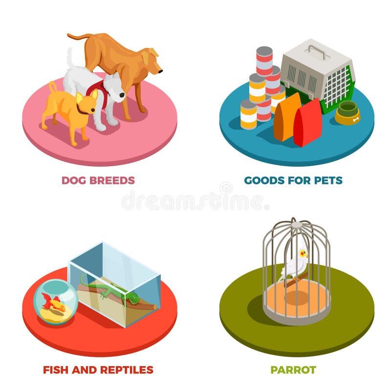 Älsklings- shoppa begreppet för designen 2x2 stock illustrationer