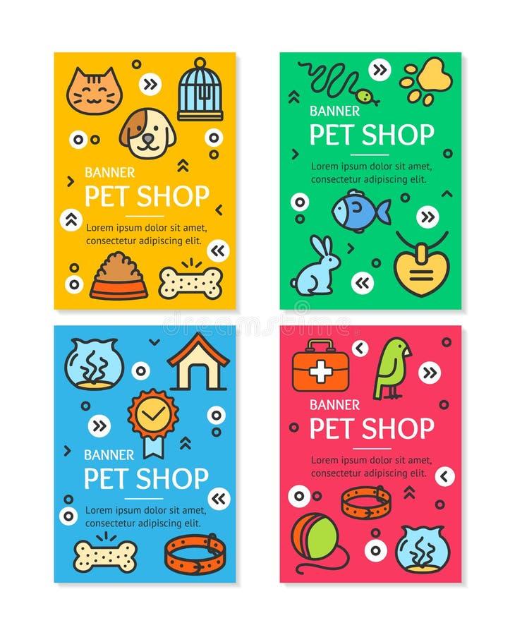 Älsklings- shoppa uppsättningen för reklambladbanerplakatet vektor stock illustrationer
