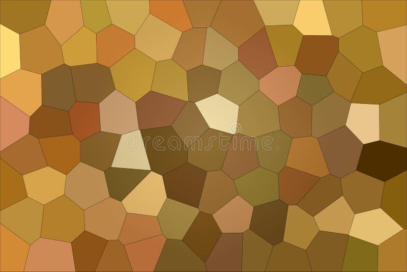 Älskvärd abstrakt illustration av den stora sexhörningen för brun och röd impressionism Användbar bakgrund för dina tryck stock illustrationer