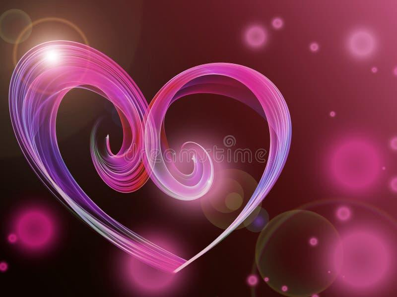 Älskvärd bakgrund för signalljus för lins för exponering för hjärtaabstrakt begreppljus royaltyfri illustrationer